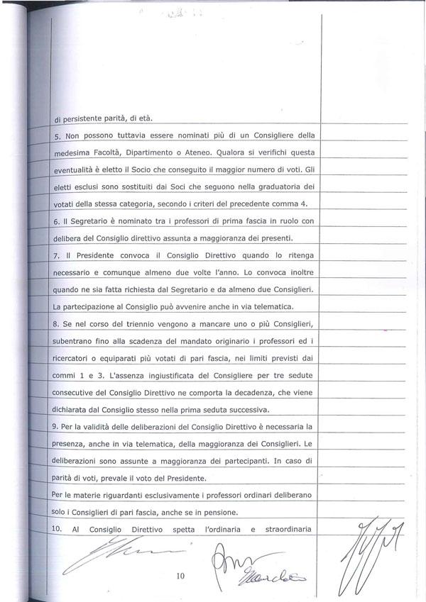 Statuto Associazione Italiana dei Professori e degli Studiosi di Diritto Tributario 10