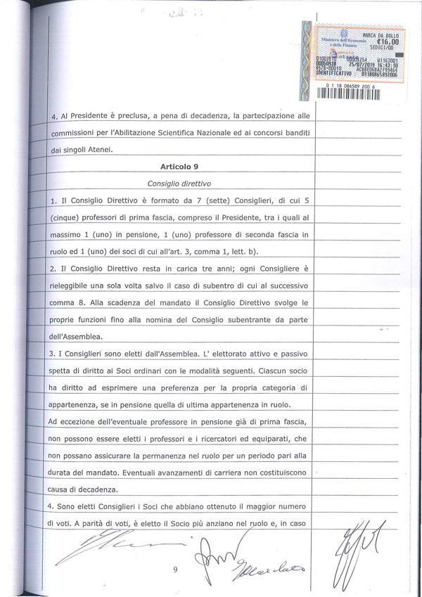 Statuto Associazione Italiana dei Professori e degli Studiosi di Diritto Tributario 9